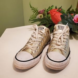 Converse All Star sneakers gold women's size 7